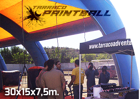 Carpa Tarraco paintball mòbil